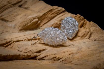 zilveren filigraan oorbellen